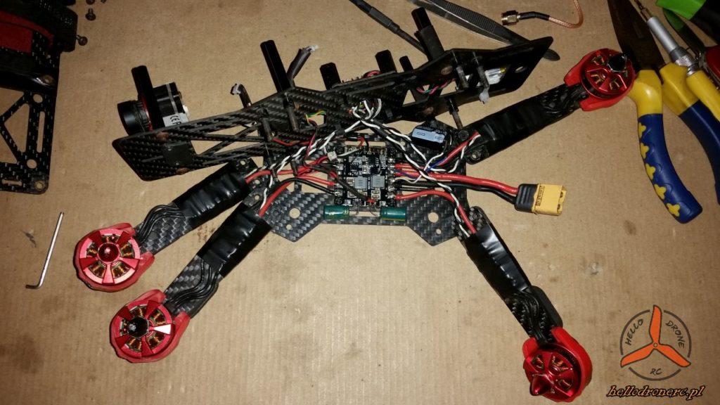 budowa drona wyścigowego fpv klasy 250