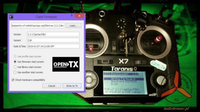 Aktualizacja OpenTX w FRSKY TARANIS QX7 i innych