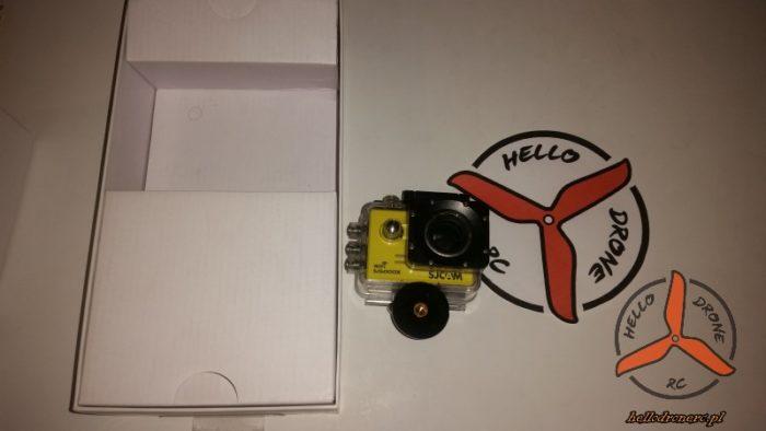 kamera sportowa SJCAM SJ5000X ELITE w wodoszczelnej obudowie