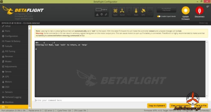 BETAFLIGHT CLI