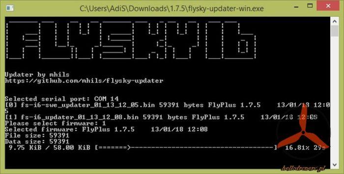 flysky updater 1.7.5 flysky 10CH MOD