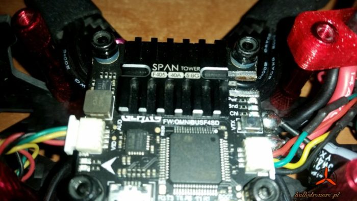 koszty drona - broken mmcx connector geprc span f4 tower