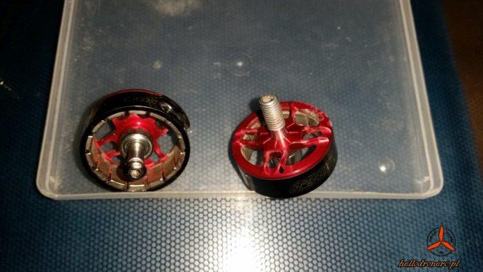 cena drona - uszkodzone silniki - broken bell motor 2207 geprc