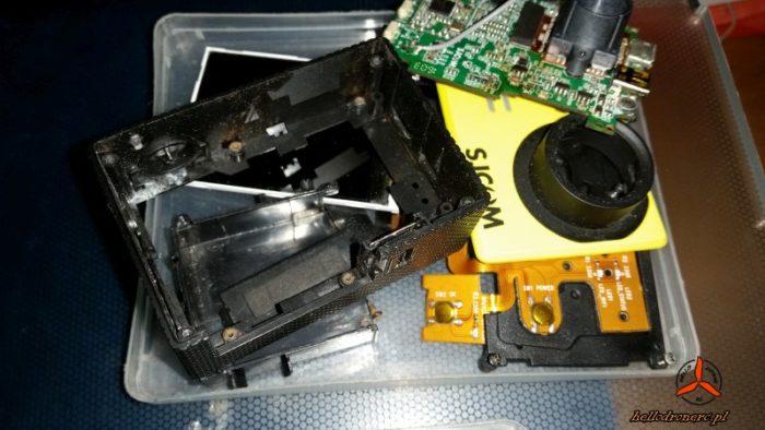 latanie dronem - uszkodzona kamera sportowa - sj500x Elite broken