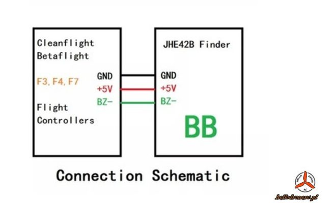 Finder Buzzer JHE42B Vifly skystars podłączenie connection dron
