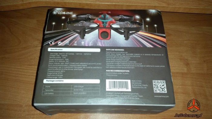 Dron Eachine E013 PLUS - box spód