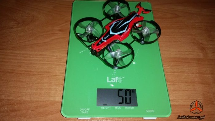 Eachine E013 PLUS waga weight with battery