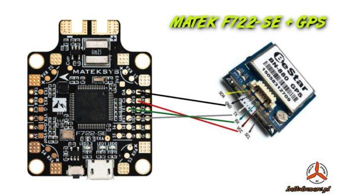 Połączenie gps kontroler lotu gps + fc betaflight gps