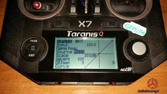 TARANIS QX7 INPUTS RSSI R-XSR XM+ R9MM
