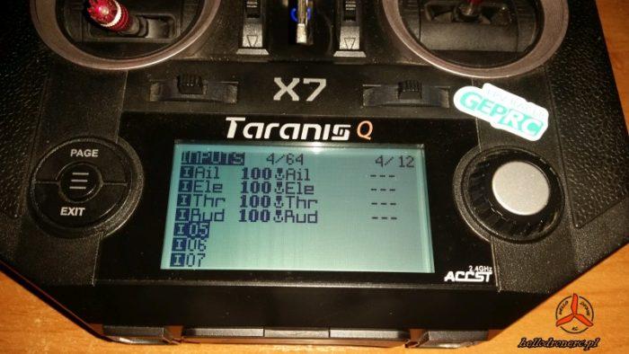 TARANIS QX7 INPUTS RSSI