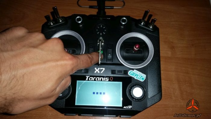 TARANIS QX7 start aparatura RC transmitter