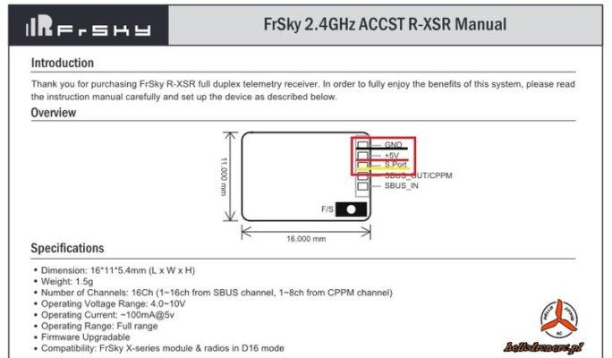 r-xsr manual instrukcja bindowanie odbiornika