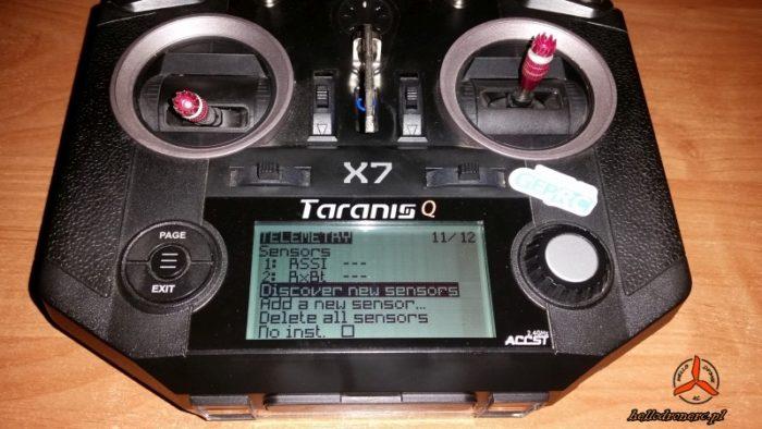taranis qx7 discover new sensors bindowanie odbiornika RC frsky