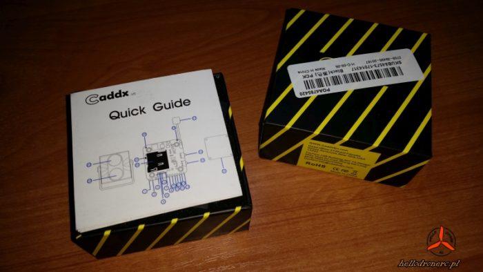 Zawartość opakowania kamery Caddx Tarsier 1