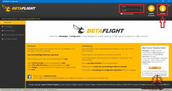 betaflight 4.1 ustawienia dron
