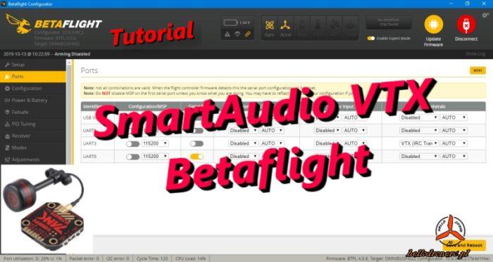 SmartAudio VTX / TRAMP - konfiguracja VTX w Betaflight