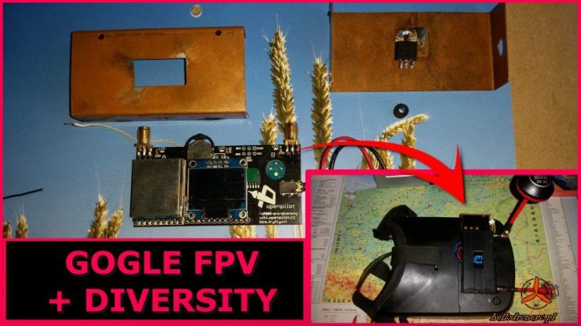 Tutorial mod odbiornik diversity 5.8 fpv gogle FPV eachine ev800 ev100 skyzone sky02x sky03o