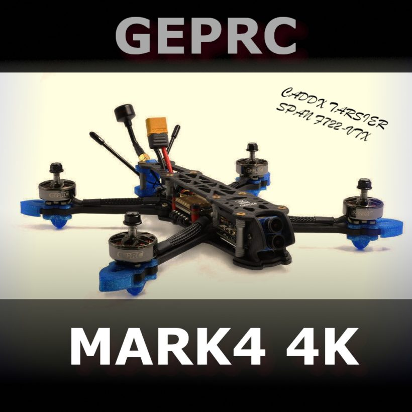 dron geprc mark4 4k caddx tarsier bnf pnp freestyle racing drone 225mm