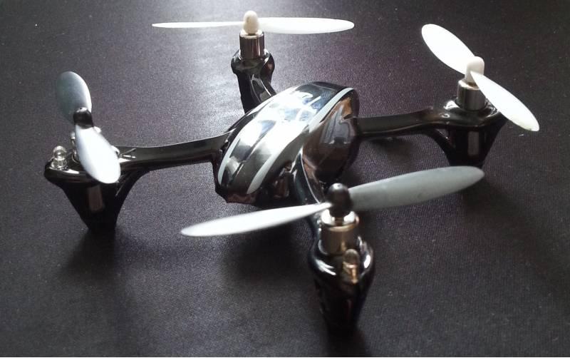 nauka latania dronem Hubsan X4 V2 H107L