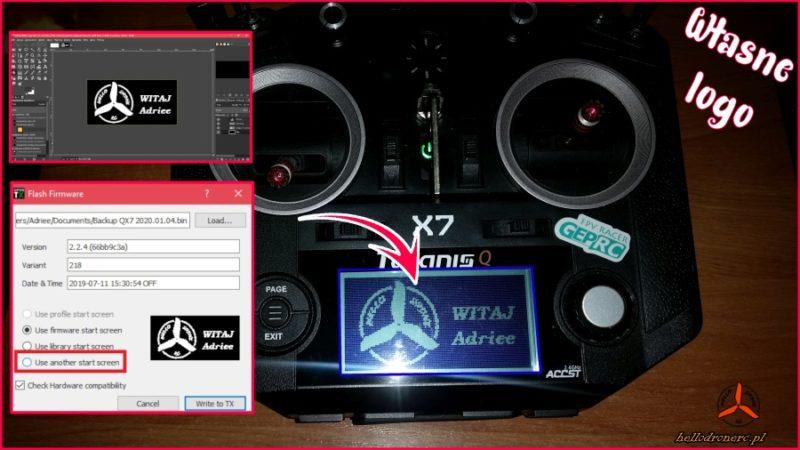 Własny ekran startowy w FRSKY TARANIS i OpenTX