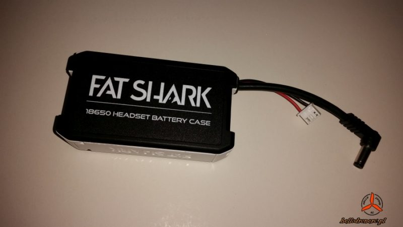 Fatshark hdo2 18650 case 2s li-ion battery