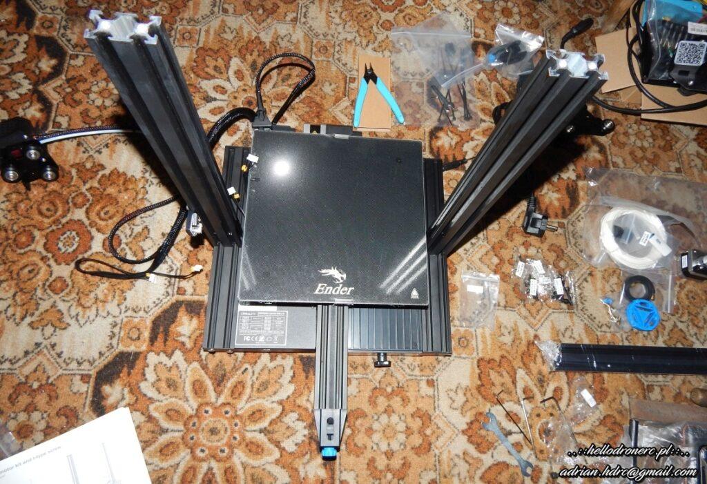 Montaż ramy drukarki 3d - creality ender