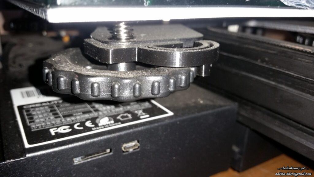 blokada kółek stołu drukarki 3d